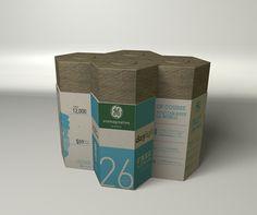 GE Compact Fluorescent Lightbulb Packaging by Grace Wu, via Behance