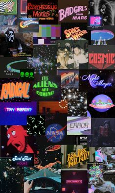 vhs space aesthetic iphone wallpaper