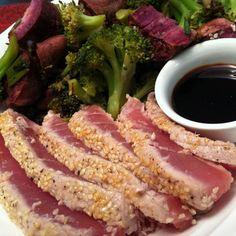 Sesame Seared Ahi Tuna Steaks My favorite food in the entire world!!