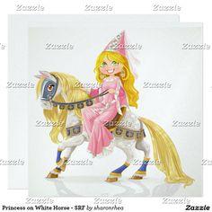 Princesse sur le cheval blanc - SRF Carton D'invitation 13,33 Cm