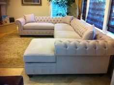 KENZIE STYLE ( aka NELLIE) - Chesterfield Sofa or Sectional - Traditional - Family Room - los angeles - by Monarch Sofas