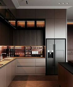 75 stunning modern contemporary elegant kitchen design ideas 2019 page 22 Cen Luxury Kitchens Cen Contemporary Design Elegant Ideas Kitchen Modern Page Stunning Modern Kitchen Interiors, Modern Kitchen Cabinets, Elegant Kitchens, Interior Modern, Luxury Kitchens, Home Decor Kitchen, Kitchen Ideas, Kitchen Inspiration, Diy Kitchen