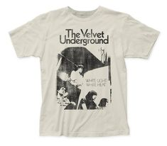 Velvet Underground White Light/White Heat Distressed Men& Soft Fitted Cotton Tee Vintage White by DrasticPlasticMerch White Heat, White Light, Fit 30, Band Shirts, Swagg, Cotton Tee, White Cotton, Aesthetic Clothes, Cool Outfits
