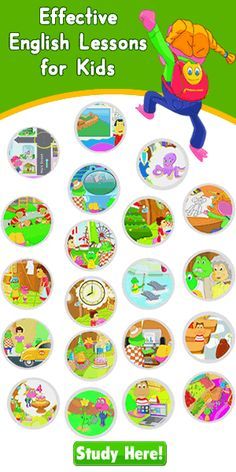 ESL aimed towards children. I like these because 1. they are cartoon videos 2. they have text dialogues onscreen 3. they focus on a single concept