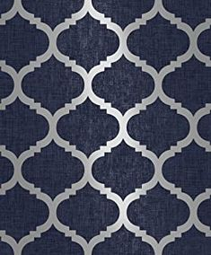 Amazon.co.uk : navy wallpaper Silver Wallpaper Feature Wall, Geometric Wallpaper Navy, Grey And Gold Wallpaper, Accent Wallpaper, Pattern Wallpaper, Navy Blue Walls, Navy Blue Decor, Gold Texture, Living Room