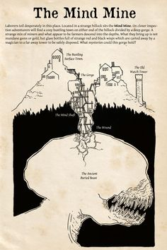 Creative Drawing Markerslinger — The full Mind Mine Adventure Seed is up! You guys. Fantasy Kunst, Fantasy Map, Dungeons And Dragons Homebrew, D&d Dungeons And Dragons, Dnd Characters, Fantasy Characters, Dnd Stories, Rpg Map, Dnd 5e Homebrew