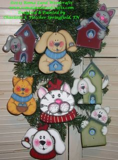 Pattern for Cat and Dog ornaments by RomaLandWoodcrafts on Etsy, $6.00