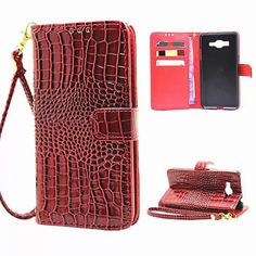 Croc leather Phone Bag Case For Samsung Galaxy J3 2016 A7 A5 A510 A3 A310 G530 Flip Cover Wallet Case For IPhone 5 6 6S 7 Plus