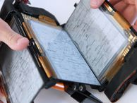 PaperFold E Ink phone is context sensitive based on folds A foldable e-paper smartphone concept adjusts how it displays information based on the configuration of folds between its three screens.
