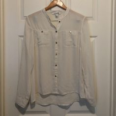 Forever 21 Blouse Sheer button down blouse Forever 21 Tops Blouses