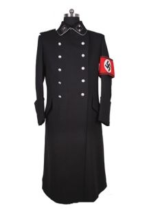 SS M32 NCO Black Gabardine Greatcoat