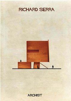 Galería - ARCHIST: Ilustraciones Famosas de Arte Reimaginadas como Arquitectura - 5