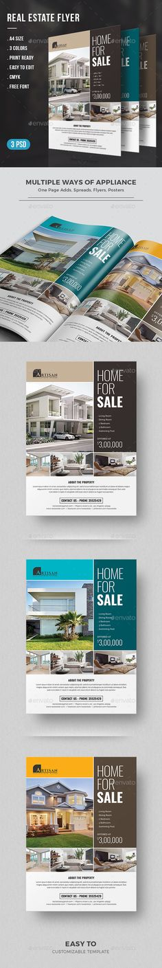 Buy Real Estate Flyer by themedevisers on GraphicRiver. Real Estate Flyer Template is a great tool for promoting your real estate business also useful for a realtor, real e. Real Estate Branding, Real Estate Flyers, Real Estate Business, Real Estate Marketing, Advertising Flyers, Marketing Flyers, Advertising Design, Real Estate Templates, Real Estate Flyer Template