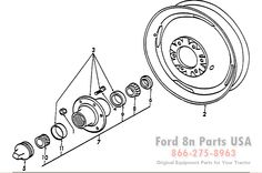 Ford 8N 11H01 Parts with Diagrams