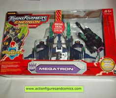 Hasbro toys TRANSFORMERS Energon action figures for sale to buy 2004 MEGATRON leader class this is the very rare low produced Red box. Most of these figures were released on an all black box. This ver