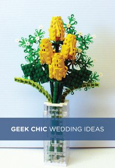 2 Words: Lego Bouquet! Check out these ultimate geek chic wedding ideas!