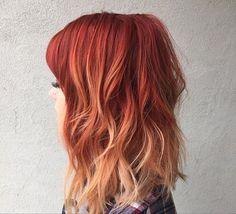 orange red ombre