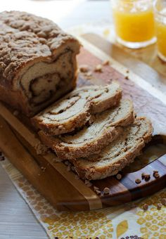 Triple Cinnamon Swirl Bread by the baker chick