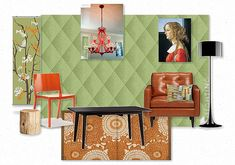 Renaissance Retro made Cool Modern -- reusable faux padded harlequin wallcovering can be customized to any color Get In The Mood, Design Boards, Mood Boards, Renaissance, Create Your Own, Interior Design, Cool Stuff, Retro, Wallpaper