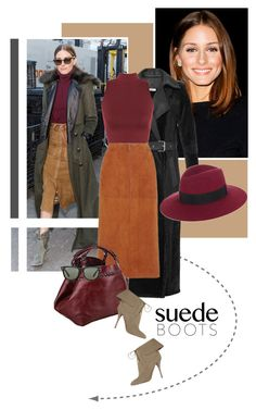 """Style Staple: Suede Boots"" by drn57 ❤ liked on Polyvore featuring moda, Thierry Mugler, WearAll, Aquazzura, Caroline De Marchi, Ray-Ban ve suedeboots"