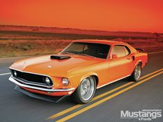 1969 Ford Mustang sportroof. I think that color was Calypso Coral.