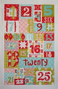 Counting On Christmas Wallhanging Pattern. Fat quarter friendly 3 sizes! http://www.kayewood.com/item/Counting_On_Christmas_Wall_Hanging_Pattern/2872 $9.00