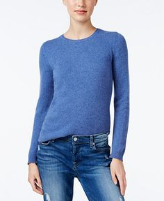 Charter Club Cashmere Crew-Neck Sweater, Only at Macy's, 18 Colors Available - Sweaters - Women - Macy's