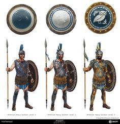 Arte Assassins Creed, Assassins Creed Odyssey, Fantasy Weapons, Fantasy Warrior, Greek Soldier, Character Art, Character Design, Greek Warrior, Armadura Medieval