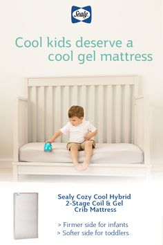 Let your baby/toddler sleep extra cozy with the Sealy Baby crib mattress: featuring an innerspring coil system PLUS a soybean gel memory foam topper. Cool Gel Mattress, Best Crib Mattress, Mint Nursery, Nursery Room, Smiley Baby, Preparing The Nursery, Toddler Sleep, Memory Foam, Cribs