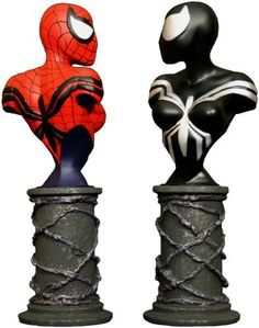 "Spider-Girl Mini-Busts 2-Pack by Diamond Comic Distributors. Save 4 Off!. $76.84. Display ready. Each bust stands over 6"" tall. Sculpted by Bruno Bolteau and Randy Bowen. Spider-Girl is the daughter of Peter and Mary Jane Parker. Strictly limited. From the Manufacturer                A Bowen Designs Release.  In the future, the daughter of Peter and Mary Jane Parker will take up her father's costume and become Spider-Girl.  Her adventures were chronicled in Spider-Girl and now Web ..."
