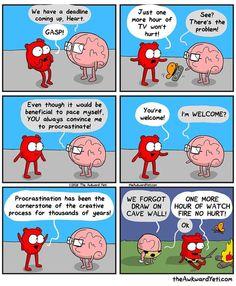 The Awkward Yeti comics  #procrastination https://instagram.com/p/BAzh9xJkmoi/