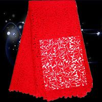 GS37-2 bright red,beautiful guipure lace fabric,African water soluble lace fabric,free shipping cotton cord lace cloth for dress