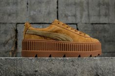 61000d0f0c0256 Latest and Newest PUMA Fenty Cleated Creeper 2018 Womens Fashion Shoes  Sneakers 366268-02 Golden