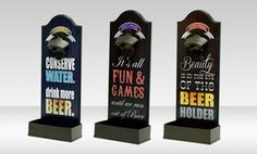 Groupon - $ 10.99 for a Wall-Mounted Bottle Opener ($14.99 List Price). Multiple Designs Available. Free Returns. in Online Deal. Groupon deal price: $10.99 Eyes Game, Beauty Water, Wall Mounted Bottle Opener, Price List, Water Conservation, Made Of Wood, Wood And Metal, Bookends, Beer
