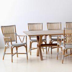 Dotted Rattan Veranda Chair in White Cappuccino Dot | VivaTerra