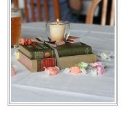 Books as Centerpieces :  wedding Books Ribbon