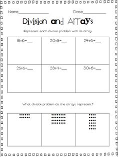 math worksheet : representing division free worksheet where students represent  : Division Printable Worksheets