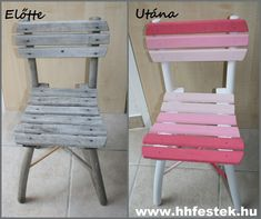 Outdoor Chairs, Outdoor Furniture, Outdoor Decor, Shabby Chic Furniture, Dining Table, Retro, Handmade, Diy, Bohemian