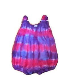 Tie Dye Baby Bubble Romper// 12 month// Baby Clothing// Pink