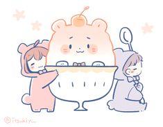 いつきゆう*8/30~コラボカフェ (@itsukiyu) / Twitter Anime Chibi, Anime Art, Cute Chibi Couple, Kawaii Doodles, Cute Anime Couples, Illustration Girl, Cute Drawings, Avatar, The Incredibles