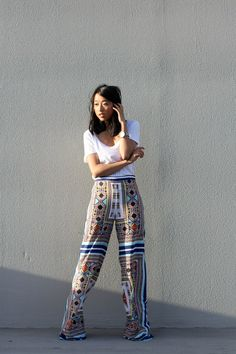 Blogger Margaret Zhang from Shine By Three in the Bec & Bridge Palazzo Pants, available now. http://shinebythree.com