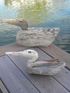 Easy DIY Driftwood Ducks. www.DIYeasycrafts.com