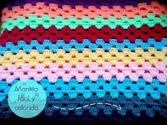 Manta fácil de GANCHILLO - Easy CROCHET blanket (TUTORIAL) - YouTube