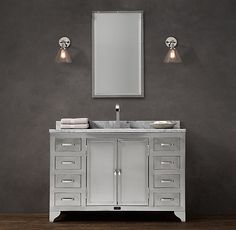 B - 50 wd x 23 deep x 34 high 1930s Laboratory Stainless Steel Extra-Wide Single Vanity Sink