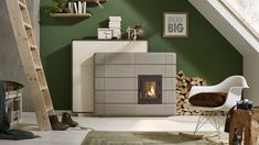 Frame+P - Kaufmann Malm, Tile Design, Stove, Chrome, Retro, Home Decor, Wood Burning Fireplaces, Stoves, Modern Wall