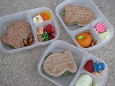 Bento for Kidlet: Goldfish Lunches for 3! #EasyLunchBoxes