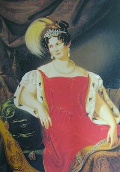 1836 Therese of Saxe-Altenburg, Queen of Bavaria by Countess Julie von Egloffstein