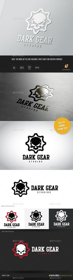 Dark Gear Logo Template #design Download: http://graphicriver.net/item/dark-gear-ii/11383969?ref=ksioks