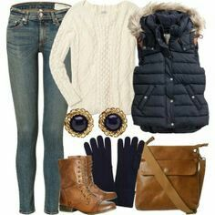 This is an outfit that makes me actually like winter!