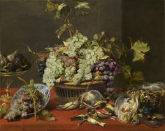 Frans Snyders - Still Life with Grapes and Game